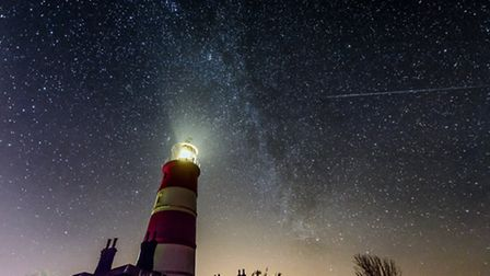 The clear skies above Happisburgh lighthouse with a spectacular view of the Milky Way. Photo Alex Ly