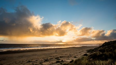 This mornings sunrise at Winterton. Picture: Roy Howarth