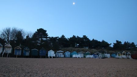 Just before sunrise above the Beach Huts at Wells-Next-The-Sea. Photo: Martin Sizeland