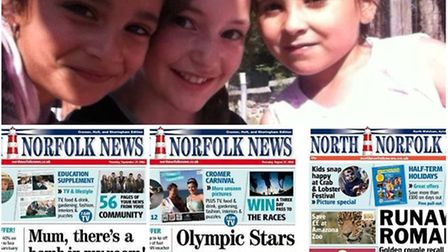 Some of the front pages from the North Norfolk News in 2016.