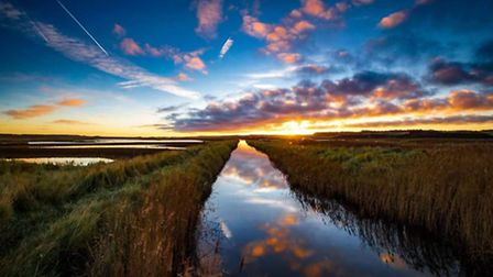 Sunrise at Cley Next The Sea. Photo: Brad Damms