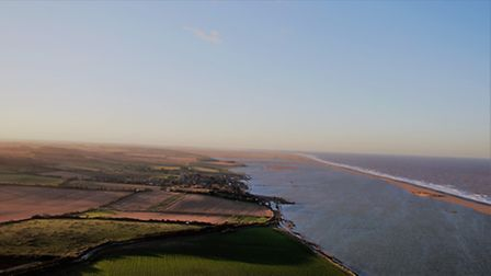 Aerial shot of the flooding at Salthouse. Photo: James Horne