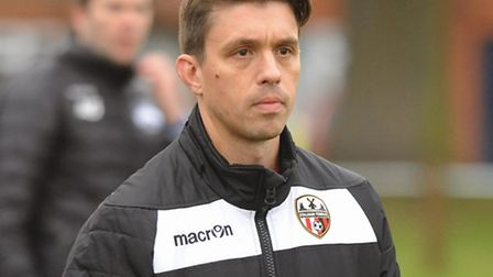 Stalham manager John Bell saw his side score three times and lose. Picture: DENISE BRADLEY