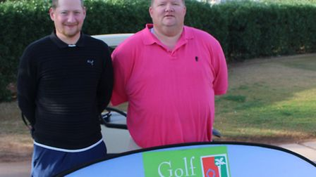 Mundesley Golf Club amateurs Matt Craske and James Crosby tasted success in Morocco. Picture: Azalea