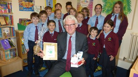 Ludham tycoons with MP Norman Lamb: Picture: Heather Delf