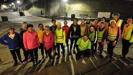 Members of North Norfolk Beach runners braved freezing temperatures to run on Cromer Prom.