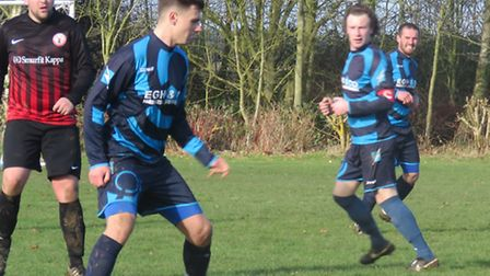 Action from Trimingham Pilgrims' home game against Sprowston Wanderers. Picture: CHARLOTTE CRANE