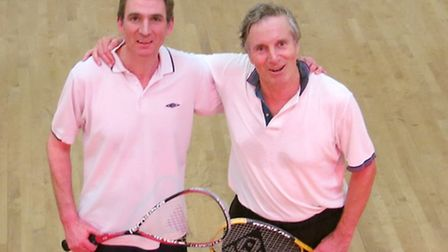 Former champions Martin Sanville (left) champion in 2013 and Peter Arbuthnot, champion in 2014, afte