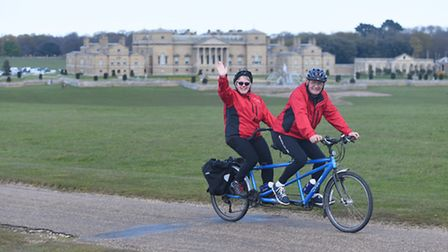 Cyclists on the Holkham Estate, taking part in the 'Pedal Norfolk' weekend last year. Picture Ian Bu