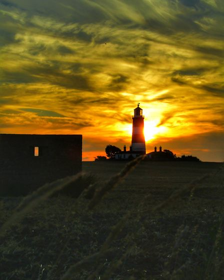 Happisburgh Lighthouse at sunset. Picture: Laura Baxter
