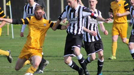 Acle United were too strong for Cromer on Saturday. Picture Bryan Grint