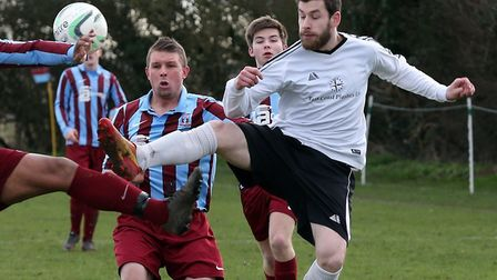 Dale Wilton scored what proved to be a consolation goal for North Walsham. Picture: Steve Wood