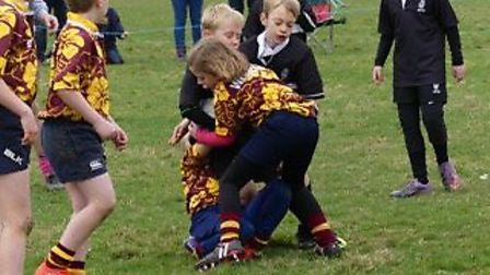 Youngsters enjoying their rugby at Holt RFC. Picture: Neville Drewry