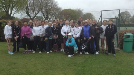 Cromer and Gresham's players who took part in the annual ladies tennis match at Gresham's. Picture: