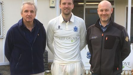 Celebrating the renewal of Cromer CC's sponsorship deal with The Grove are (l-r) club president Mark