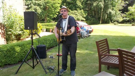 The Manor House in North Walsham opened its doors for Care Home Open Day. Live music being performed