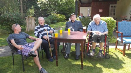 The Manor House in North Walsham opened its doors for Care Home Open Day. Residents and guests enjoy
