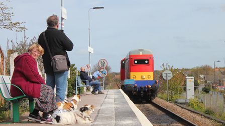 A train on its way to the North Norfolk Railway's annual diesel gala via the mainline last year. The