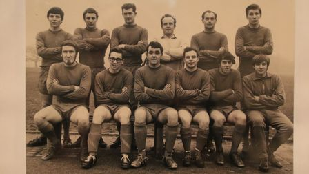 The Cromer Town team, who finished runners-up in the Anglian Combination Division One in 1967-68. Th
