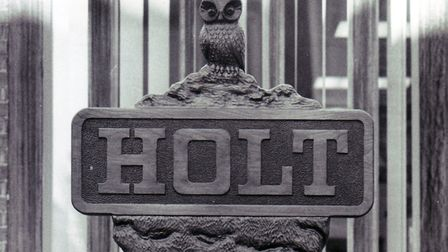 Holt sign, dated 17th May 1991. Photo: Archant Library