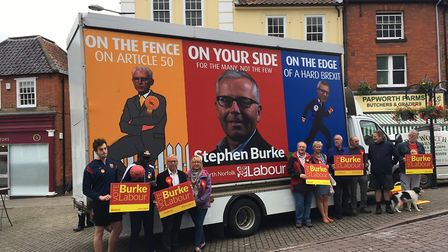 Labour launch its poster van in North Walsham: Picture: David Bale
