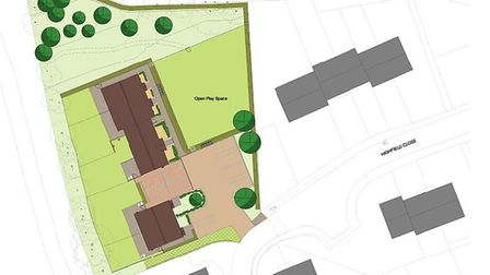 New affordable housing is being built in Great Ryburgh. Picture: Broadland Housing Association