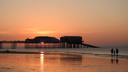 Cromer sunset on saturday evening. Picture: Paul Reynolds
