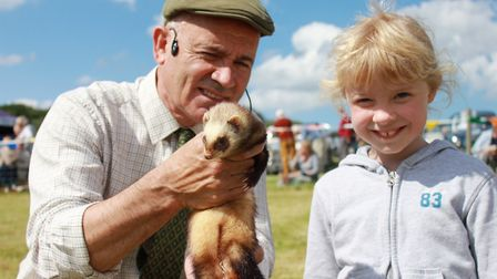 Ferret racing fun is on offer at North Norfolk Country Fair this weekend. Photo: Karen Bethell
