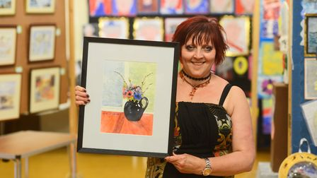 Cromer Carnival Art Week. Pictured is artist Linda Mellor. Picture: Ian Burt