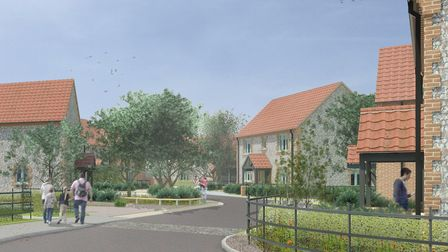 An architect's image of the proposed development at Hall Close, Bodham. Picture: Four marketing