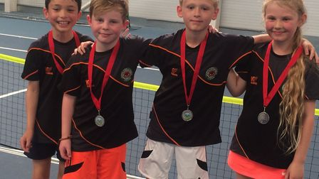 The Cromer Under-8 team who turned on the style at Easton Tennis Centre. Picture: Club