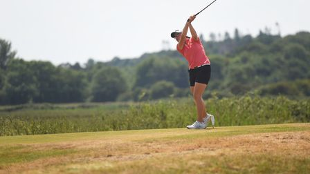 Action from the East Region County Match Week at Hunstanton Golf Club. Pictured is Norfolk's Amelia