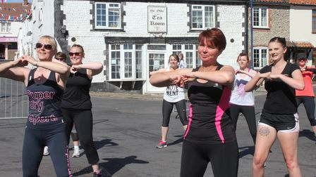Sheringham carnival zumbathon, which runs on the Leas on Saturday. Picture: KAREN BETHELL