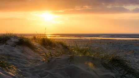 A picture perfect sunset on Wells beach. Picture: Alex Lyons