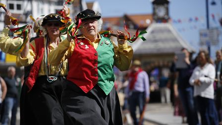 Dancers at last year's Potty Morris and Folk Festival. Picture: MARK BULLIMORE