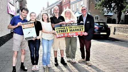 Stalham business forum members promoting upcoming events. Picture: Maurice Gray