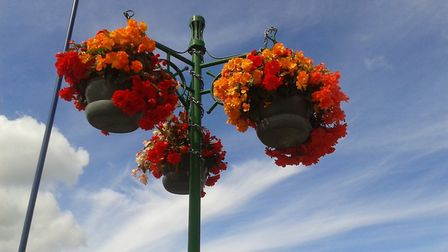 Sheringham In Bloom's hanging baskets. Picture: Joan Thame