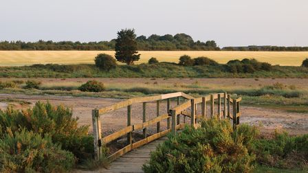 A bridge at Stiffkey Marshes that takes you the beach. Picture: Martin Sizeland