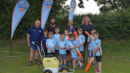 Bradfield Cricket Club has been presented with a pedestrian sprayer, paid for from the Norse Communi