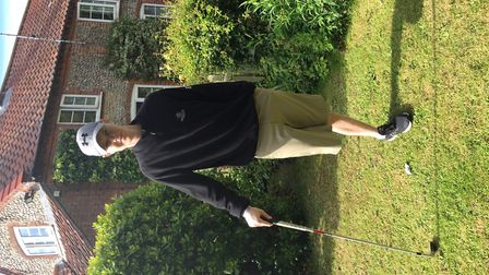 The Norfolk golfing community are rallying round to help golfer Brad Smith. Picture: Submitted