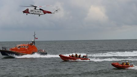 Sheringham RNLI put on a fabulous demonstration of Air Sea Rescue with Cromer Lifeboat and a Sikorsk