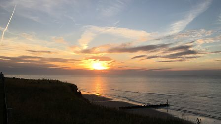 A stunning sight at West Runton. Picture: Linda Branscombe