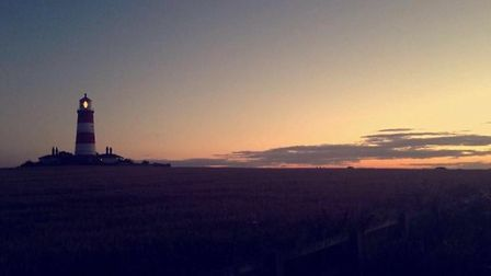 Beautiful skies over Happisborough lighthouse. Picture: Emily Hall