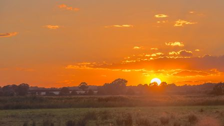 A stunning sunset across the Ludham marsh. Picture: Brian Shreeve