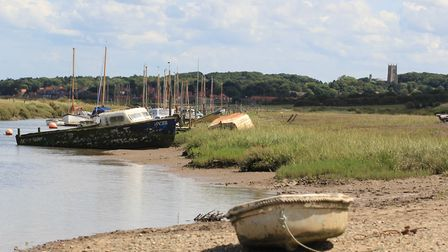 Boats at Morston Quay on a Summer's day. Picture: Simon Bamber