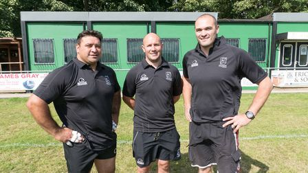 The North Walsham coaching team of, from left to right, Johnny Marsters, James Brooks and Joe Beards
