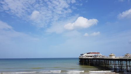 Blue skies over Cromer #lovecromer. Picture: Laurie Scott