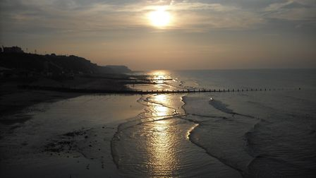 A beautiful sunset taken from Cromer Pier. Picture: Jacqueline Barber