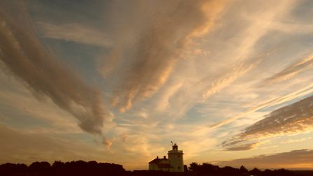 Cromer lighthouse sunset. Picture: Angus Silvie