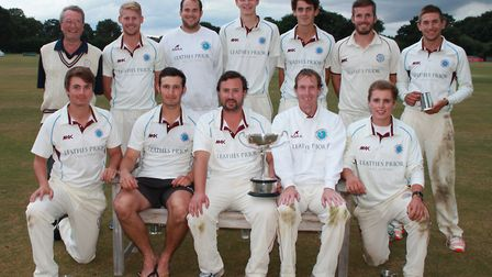 The Swardeston squad which won the 2016 Bob Carter Cup final, beating Norwich at Manor Park. Picture